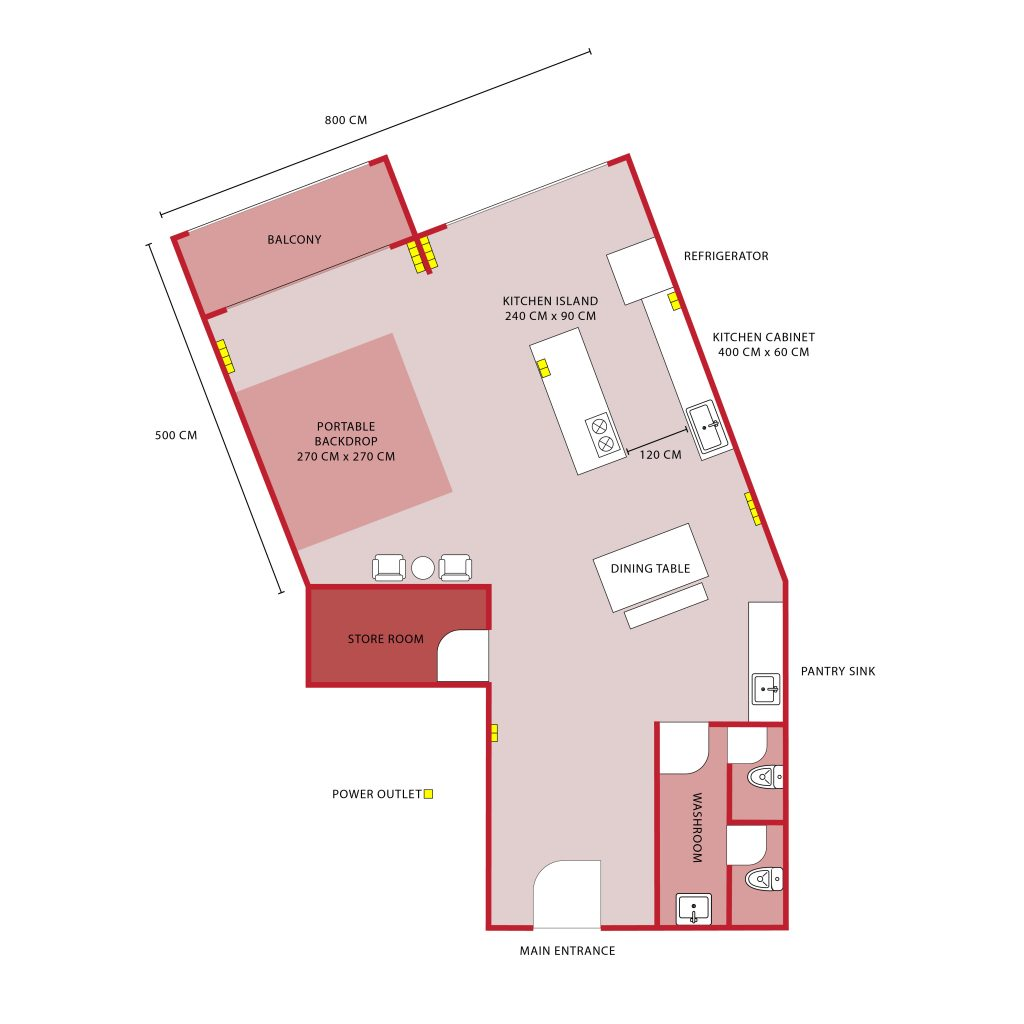 Red Studio Floor Plan